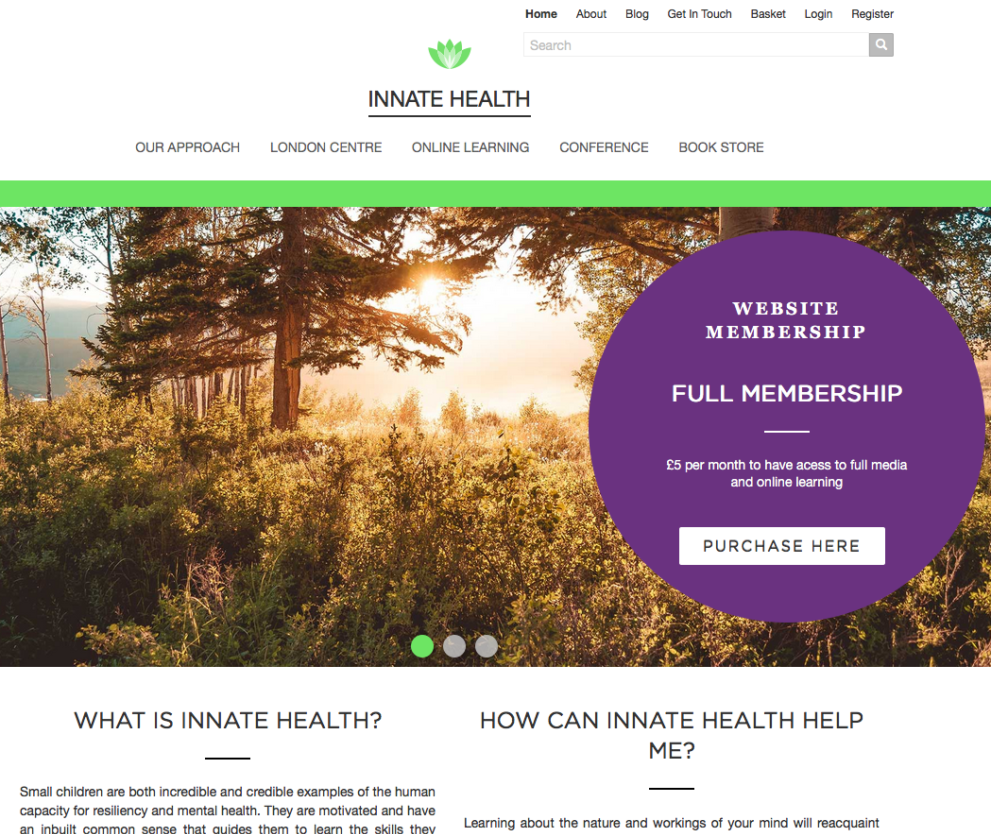 Innatehealth.co website