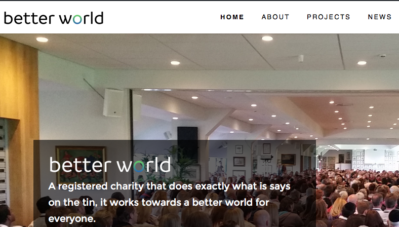 Better World Charity Website Launched